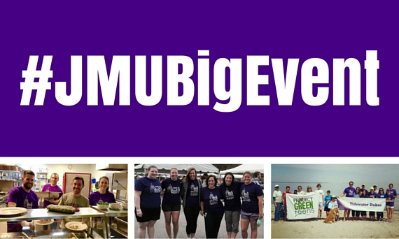 Students and Alums give back for JMU Big Event