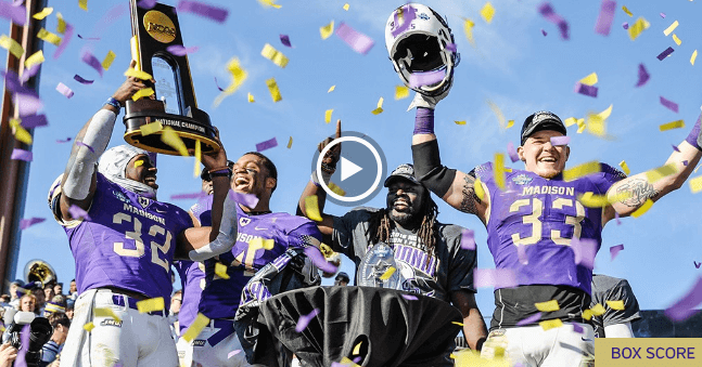 National Champs! JMU Tops Youngstown State 28-14