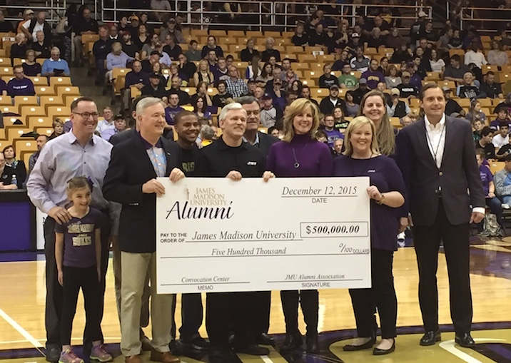 JMU Alumni Association Makes BIG gift!